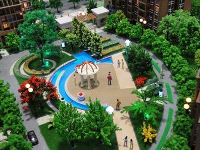 小区景观模型