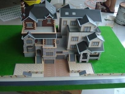 花园洋房建筑模型